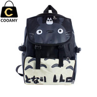 Wholesale Japanese Cartoon Backpack - Wholesale- Totoro backpacks Japanese Anime My Neighbor Totoro bag Waterproof Laptop Black Backpack Double-Shoulder Bag School Bag