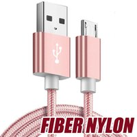 Wholesale nylon cloth fabric - Good Quality Micro usb Fabric Braided Nylon Sync Cloth Woven Universal Micro USB Cable Cord For Samsung S7 S8 SONY LG TYPE C