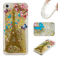 Wholesale Iphone 4s Case Silicone Glitter - Liquid Quicksand Soft TPU Case For Iphone 7 Plus I7 6S SE 5S 5C 4 4S Ipod Touch 5 6 Huawei P8 P9 Lite Glitter Flower Cartoon Star Skin Cover