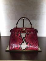 Wholesale Leather Skin Lady - The New Peekaboo mini Fashion python skin ladies handbag shoulder bag