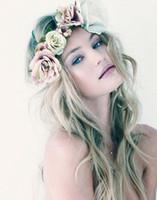 lila stern blume großhandel-Braut Haar Blumen Süßwasser Perle Braut Weiß Rosa Lila Accessoires Braut Haarspange Brosche Hochzeit
