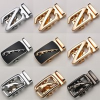 Wholesale 8 Style Letter Z Belts Automatic Buckles fit cm Width Ratchet Leather Belt body Accessories