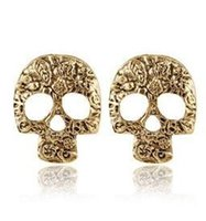 Vintage Mask Skull Stud Earrings Punk Jewelry Boucles d'oreilles en alliage pour femme Hollow Out Cheap Stud Brincos