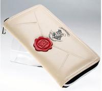 parti çantaları toptan satış-Harry Potter Mektubu Zip Çevresi Cüzdan pu Uzun Moda Kadın Cüzdan Tasarımcı Marka Çanta Lady Parti Cüzdan Kadın Kart Sahibinin