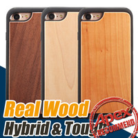 Wholesale Hybrid Cell Phone Cases Wholesale - High Quality Real Wood hybrid 2 in 1 protective back cover cases Cell Phone case for iphone 7 iPhone 6 6s plus