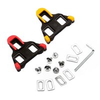 Plastic spd cleats - Hot Sale Road Bicycle Self locking Cleats Cycling Shoes Accessories Bike Pedal Lock Card SM SH11 SPD SL Red Yellow Bike Shoes Lock