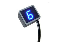 Motocicleta Universal Digital Gear Indicador Display Shift Lever Sensor LED azul 1 a máx. De 8