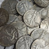 Wholesale high live - High Quality (1916D-1947D)21PCS Walking Liberty Half Dollar COIN COPY
