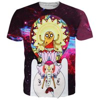 Wholesale Adventure Time Shorts - Adventure Time with Finn and Jake T-Shirt For Men Women Funny Cartoon Graphic Print 3D Tee Short Sleeve O-Neck Casual Shirt Top MDLG0421