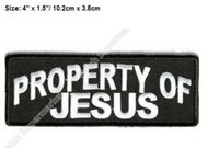 """Wholesale Rock Band Patches - 4"""" Property of Jesus Bob Dylan Songs patches Shot of Love Embroidered Emblem rock punk band rockabilly applique iron on badge"""