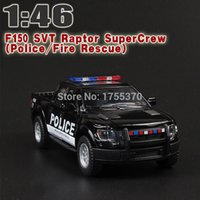 Wholesale Cool Toy Police Cars - Cool 1:46 Ford F150 Raptor Off-road Pickup Truck Police Fire Rescue Car Alloy Pull Back Toy Car Model Two-door Car