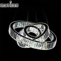 Wholesale Crystal Suspension Light - Hot Sale LED K9 Luxury Crystal Ring Pendant Light for Dining Room Lamp Lustres De Cristal Suspension Modern LED Light Fixture