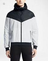 Wholesale Thin Waterproof Fabrics - Fall-NK thin windrunner Men Women sportswear high quality waterproof fabric Men sports jacket Fashion zipper hoodie Free shipping