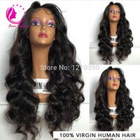 Soft Unprocessed Brazilian Virgin Cabelo Humano Lace Front Perucas Cheap Glueless Body Wave Cabelo Humano Peruca Com Baby Hair Freeship