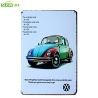 """Wholesale Colorful Metal Wall Art - VW Colorful Beetle Tin Sign 8""""x12"""" Metal Sign Bar Pub Cafe Wall Decor Metal Plaque Vintage Home Decor Painting Retro Art Poster 20170408#"""