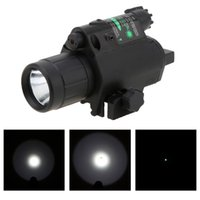 Wholesale Led Flashlight Uniquefire - Hot Sale 2 in 1 Airsoft Hunting M6 CREE LED Torch Tactical 200LM Laser Flashlight Combo Light + Green Laser Sight w  Tail Switch