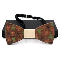 Wholesale Mens Designer Bow Ties - 2017 New Designer wooden Mens Bow Ties Fashion Formal waer Business wedding party gravatas corbatas Brand Bowties for Men WBT16