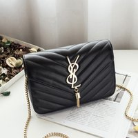 Wholesale Stripe Party Bags - Fashion Shoulder Bag classic Metal chain tassel bag hot sell new women trend messenger bags handbags small tote bags