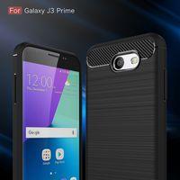 Wholesale Mint Brushes - Best Soft TPU Rubber Armor Rugged Carbon Fiber Brushed Men Phone Mobil Coque Etui Case For Samsung Galaxy J3 Prime J3Prime