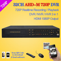 Wholesale Home Security Video Recording - Home video surveillance 32ch full AHD 720P real time recording security CCTV DVR recorder HDMI 1080P 32 channel AHD-M DVR NVR