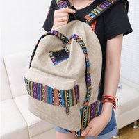 Wholesale Cheap School Girl Free Shipping - Wholesale- Vintage backpack female canvas-bag students' school backpacks teenage girl school bags casual-bag cheap sale free shipping
