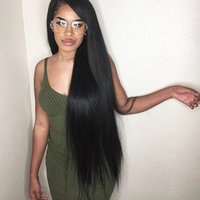 Lace Front Perucas de cabelo humano Long Silky Straight Full Lace Wig 150 Densidade Peruvian Virgin Hair 180 Density Natural Hairline com Baby Hair