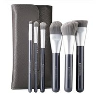 Wholesale Deluxe Makeup Brush Set - Brand Makeup Brushes SEP COLLECTION 6pcs set Deluxe Charcoal Antibacterial Brush Set professional make up blending foundation contour brush.