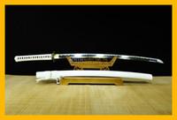 Wholesale Metal Forges - COLLECTION SWORD for decorate Hand Forged Full Tang Dragon T10 1095 Japanese Warrior Samurai Katana Japan Dragon White Ninja Sword #297