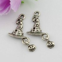 Wholesale Antique Clown - Hot sell ! 200Pcs Antique Silver Zinc Alloy clown Hat charms Pendants 18x14mm DIY Jewelry