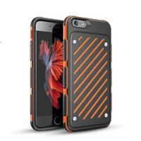 Wholesale Shock Proof Pc Case - 1PCS new arrive Dual Layer Shock Proof Steel Armor Hybrid PC+TPU Rubber Hard Case Cover Skin for iPhone 7 Plus 6 6S Cell Phone Protective