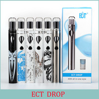 Wholesale Ego Vw - ECT Drop kit with 2.0ml capacity anti-leaking vaporizer 2200mah battery electronic cigarette VW 10W-20W-40W all-in-one style VS EGo AIO