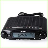 Wholesale ats radio - Wholesale-Free shipping TECSUN MP-300 FM DSP Clock Radio USB MP3 Player high sensitivity stereo radios+ATS+retail package