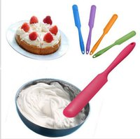 Wholesale Silicone Butter Scraper - Cake Cream Butter Silicone spatula Mixing Batter Scraper Brush Baking Tool Long Handled Baking Scraper Baking Spatulas 1000pcs KKA1928