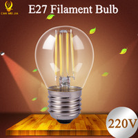 Wholesale Led Globe 6w Cool White - Antique Retro Vintage Edison Bulb E27 LED Filament Light 2W 4W 6W 8W E27 LED Bulb Lamp 220V Light Bulb Chandeliers