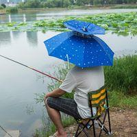 Wholesale Beach Parasol Wholesalers - Outdoor Umbrella Hat Double Layers Cycling Fishing Parasol Rain Umbrella Hiking Beach Sunshade Anti-UV Umbrella Hat Cap