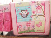 Wholesale girls comforters sets - Baby quilts different cartoon designs for girl decorate nursery bedding room cotton comforter bedding sets for children
