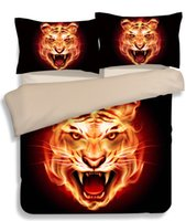 3d animal Animal Wolf, leão, tigre, leopardo Bedding Set 3 / 4Pcs Home Duvet Cover Slip Style Bed Set Twin Queen King Full Size Home Textiles