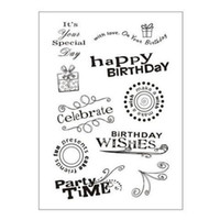 Wholesale Scrapbook Letters - Wholesale- Fashion Letter Pattern Clear Stamps for DIY Scrapbook Stamps for Scrapbooking Decorative Clear Stamp for DIY Happy Brithday Ca