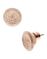 Wholesale Logo Fashion Earrings - Fashion Silver Gold Rose Gold Plated Lock Key Full Rhinestone Letter Style Logo Stud Brand Earrings Free Shipping