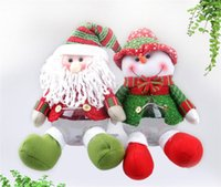 itens de doces venda por atacado-2017New Bonito Papai Noel / Presente Do Boneco De Neve De Natal Frasco De Doces De Natal Açucareiro Item de Natal Decoração De Interiores Fd 33