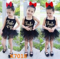 Wholesale Tutus Latin - 2017 Kids Summer Sofe Dance Clothes 19 Colors Children Dancing Clothes Cinderella Ballet Dress Latin Jumpsuits Tulle Tutu Gown Party Dress