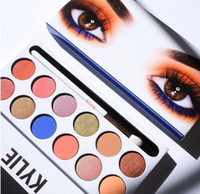Wholesale Pen Multi Colors - Best Quality Kylie Jenner The Royal Peach Eyeshadow Palette with pen 12 colors Kyshadow Beautiful Highlighter Piment Palettes