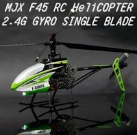 Wholesale Mjx F45 F645 Rc Helicopter - MJX F645 Heli F45 Remote Control rc Helicopter with Gyro 2.4G Single-Paddle 70CM Camera AND Brushless Motor Free shipping 2013