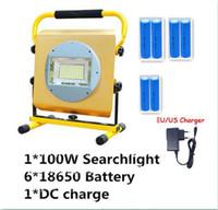 Wholesale Portable Rechargeable Spotlight - Searchlight Spotlight Portable 16000Lumen 100W 100pcs LED Waterproof Torch Flashlight Light Lamp Handy Camping Lantern