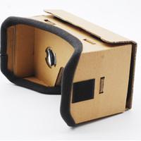 lunettes virtuelles de théâtre privé achat en gros de-DIY Google Carton 3D Lunettes Lunettes De Réalité Virtuelle Vr Box 3D Verre Théâtre Privé Pour Iphone Android Smart Téléphone Portable
