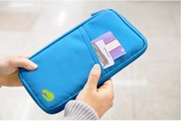 Wholesale pink travel document holder - New Passport Holder Organizer Wallet multifunctional document package candy travel wallet portable purse business card bag