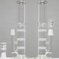 Wholesale Cheapest Water Pipes - Under $29 Cheap Water Bong Beaker Two Function Water Pipes Three Honeycomb Percs Oil Rigs Glass Bongs Cheapest Glass Pipes Free Shipping