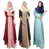 Wholesale Ethnic Clothing Muslim - new arrival abaya turkish muslim dress women dresses islamic clothes muslim clothing long dress for women ethnic clothing D133