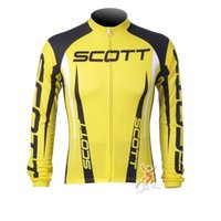Wholesale mens cycling jersey long sleeve - 2017 scott team mens Cycling Jerseys Bicycle Long Sleeve maillot ropa ciclismo MTB cycling Clothing Mountaion Bike Shirts C0601