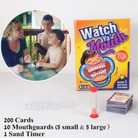 Wholesale 2017 New Party Game Board Game Watch Ya Mouth Game cards mouthopeners Family Edition Hilarious Mouth Guard